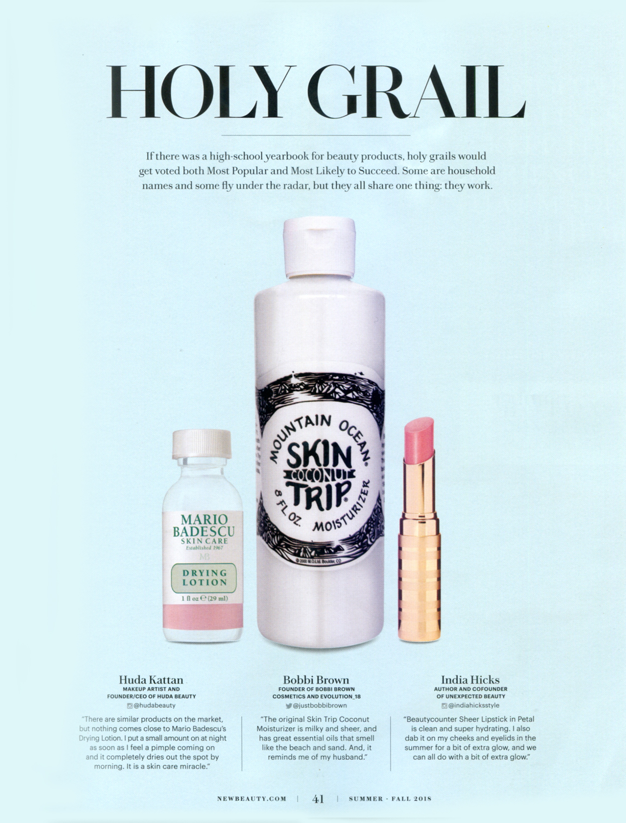 "Bobbi Brown's ""Holy Grail"" is Skin Trip! • Page 41"
